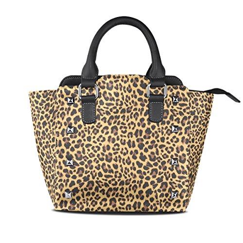 Leopard Medio A Pelle Coosun Pu Tote Multicolore In Design handle Spalla Pattern Borsa Borsello Borse Top Donna wxUCqU5B