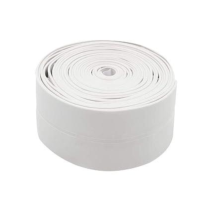 Tira de sellado de PVC para baño o cocina, impermeable, 38 mm x 3