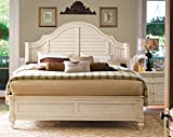 Paula Deen Home Complete Steel Magnolia Headboard/Footboard and Bed Rails 6/0, Linen