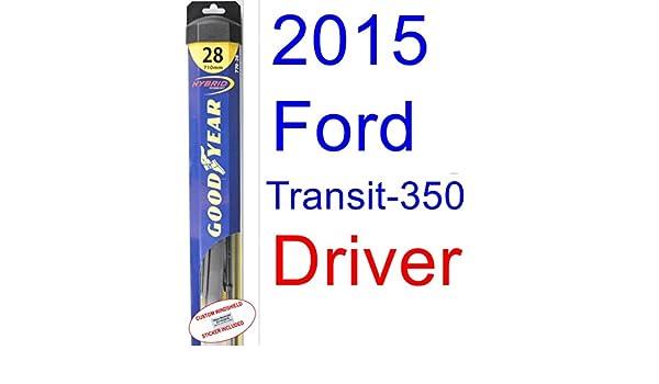 2015 Ford transit-350 XLT hoja de limpiaparabrisas de repuesto Set/Kit (Goodyear limpiaparabrisas blades-hybrid): Amazon.es: Coche y moto