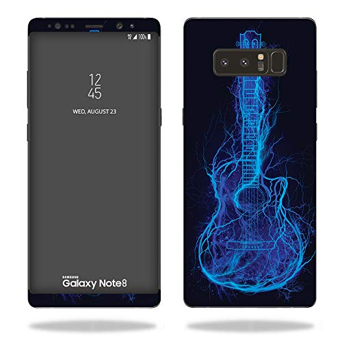 MightySkins Skin for Samsung Galaxy Note 8 - Electric Guitar | Protective, Durable, and Unique Vinyl Decal wrap Cover | Easy to Apply, Remove, and Change Styles | Made in - String 8 Gibson