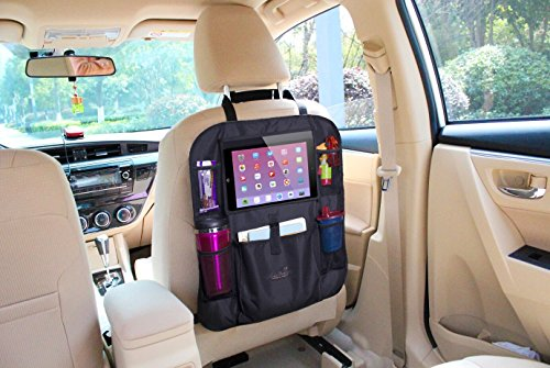 Mom's Besty Car Back Seat Organizer for Kids and Toddlers - Touch Screen Tablet Holder for Android & iOS Tablets - Multipurpose Use as Auto Seat Back Protector, Kick Mat, Car Organizer by Mom's Besty (Image #6)