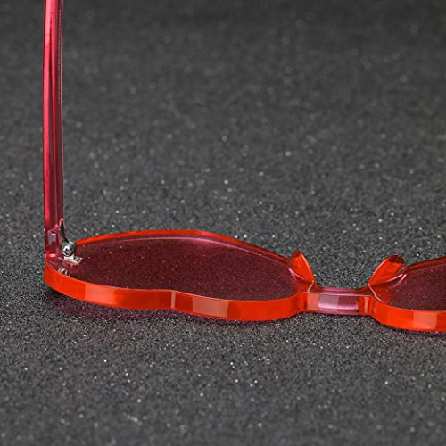 Forma Rojo Gafas de de En Integrado Logobeing Gafas Mujeres Moda Color Sol Las De Uv Corazón Caramelo de BTzqw1