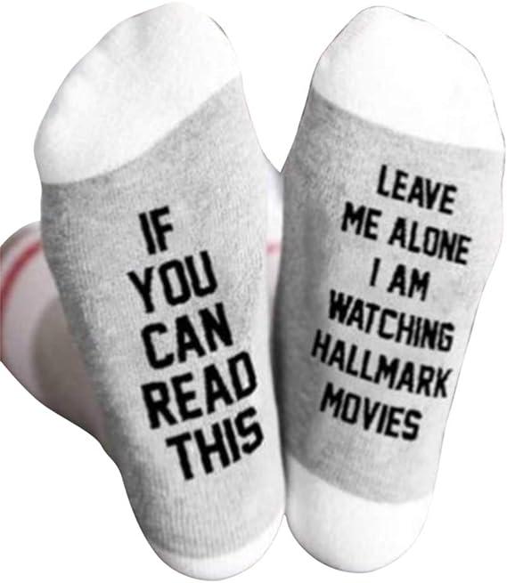 Subbry 1pair Hallmark Movies Soft Socks Christmas Letters Printed Women Winter Warm Socks Gifts Amazon Ca Clothing Accessories
