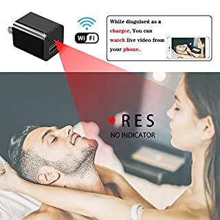Spy Camera Charger - Hidden Camera - Spy Camera Wireless Hidden - WiFi Charger Spy Camera - Nanny Camera - Spy Camera 1080P HD Nanny Cam - with Motion Detection and Night Vision Spy Cam - Mini Cam