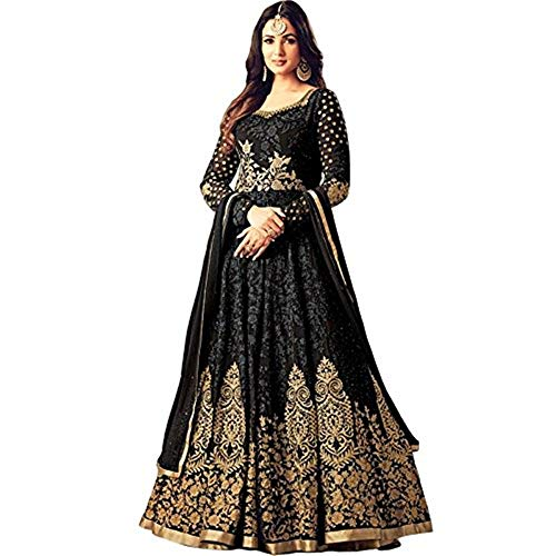 Women's Anarkali Salwar Kameez Designer Indian Dress Ethnic Party Women's Zari Floral Embroidered Gown Georgette Fabric Suit
