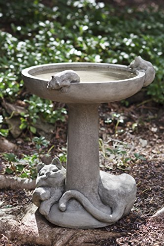 (Campania International B-127-CB Catnap Birdbath, Copper Bronze Finish )