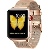 Apple Watch Band, LWCUS New Milanese Loop Iwatch Band With Classic Buckle, Gorgeous Apple Watch Accessories for Apple Watch Series3 Series2 Series1, Hermes, Edition, Sport( 38MM - Luxurious 18K Gold)