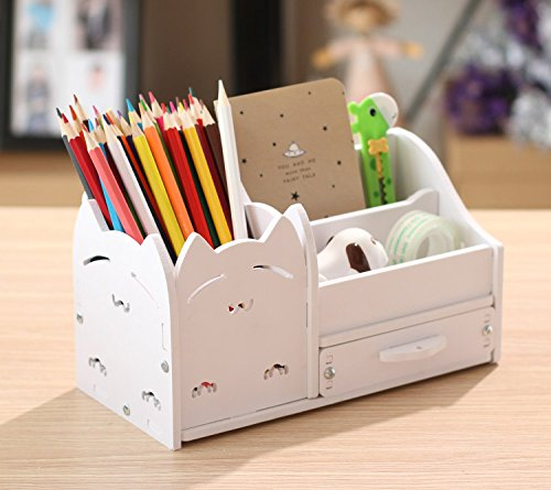 Autumn Water Home Office Desk Stationary Storage Box Pen Holder Desktop Storage Small Gadgets Collect Set by Autumn Water