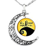Jack Skellington Necklace Pendant Gift, Jack and Sally Nightmare Before Christmas (Yellow)