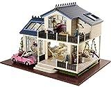 Rylai 3D Puzzles Wooden Handmade Dollhouse Miniature DIY Kit - Provence lavender Series Miniature Scene Wooden Dollhouses & Furniture/Parts(1:24 Scale Dollhouse)