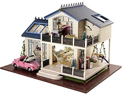 Rylai 3D Puzzles Wooden Handmade Dollhouse Miniature DIY Kit   Provence  Lavender Series Miniature Scene Wooden