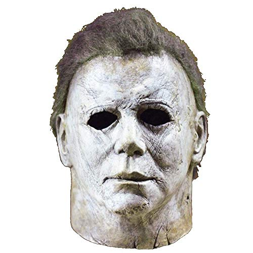 chajijung Michael Myers Mask Halloween 2018 Horror Movie Cosplay Adult Latex Full Face Helmet Halloween Party Scary Prop -