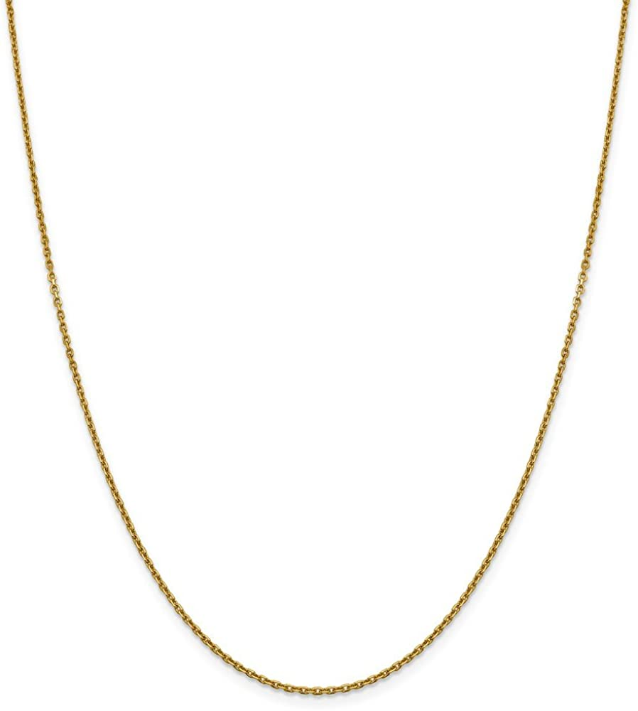 Jewels By Lux 14k Rose Gold 1.5mm Diamond-cut Rope Chain Anklet