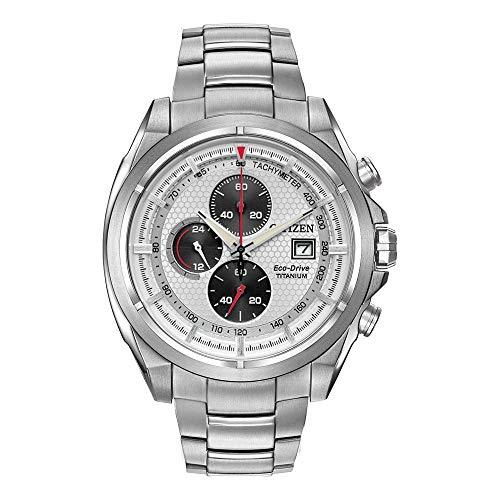 Men's Citizen Eco-Drive Titanium Chronograph Watch CA0550-52A