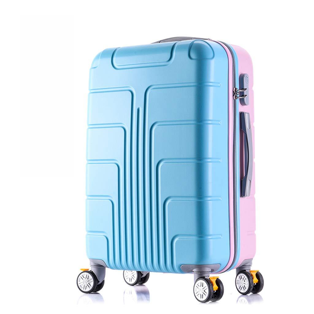 女性の小さな新鮮なトロリースーツケース20inch、22inch、24inch、26inch、28inch (色 : 青, サイズ さいず : 28inch) 28inch 青 B07LBK8KRV