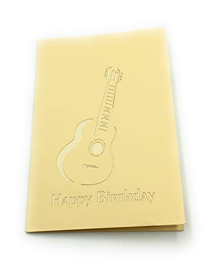 Amazon.com : ELECTRIC GUITAR 3D GREETING CARD - IDEAL FOR MUSICIANS, ROCKSTARS AND MUSIC LOVERS : Office Products