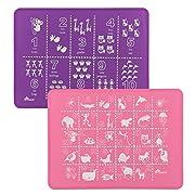 Brinware Placemat Set - ABC & 123 - Pink/Purple