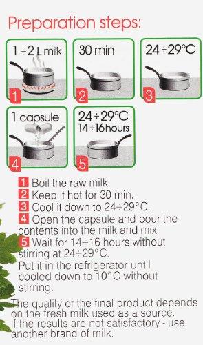Coltura per Lattoinnesto Kefir – Pacco Mini di 10 di capsule di lattoinnesto liofilizzato per preparazione Casalinga