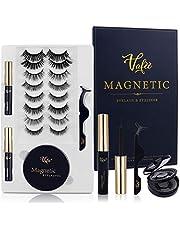 Magnetic Eyelashes Kit, Magnetic lashes, Magnetic Eyelashes with Eyeliner, No Glue Needed, with Tweezers