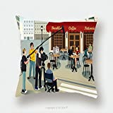 Custom Satin Pillowcase Protector A Vector Illustration Of Movie Production Scene Pillow Case Covers Decorative