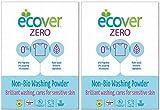 (2 Pack) - Ecover Zero - ZERO (Non Bio) Washing Powder   750g   2 PACK BUNDLE