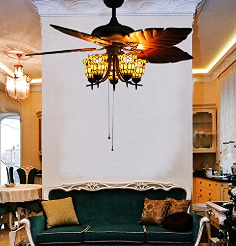 makenier-vintage-tiffany-style-stained-glass-5-light-flowers-uplight-ceiling-fan-light-kit-with-bana