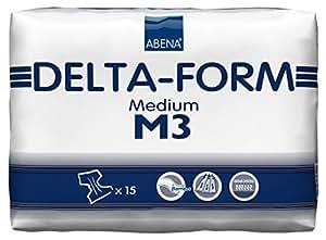 Abena Delta Form Brief, Medium, M3, 15 Count