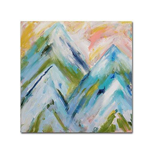 Bluebird Wall (Trademark Fine Art Colorado Bluebird Sky by Carrie Schmitt, 35x35-Inch Canvas Wall Art)