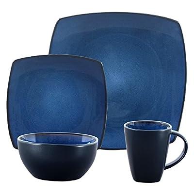Gibson Soho Lounge 16-Piece Square Reactive Glaze Dinnerware Set, Celadon -  - kitchen-tabletop, kitchen-dining-room, dinnerware-sets - 51EZg3GLUiL. SS400  -