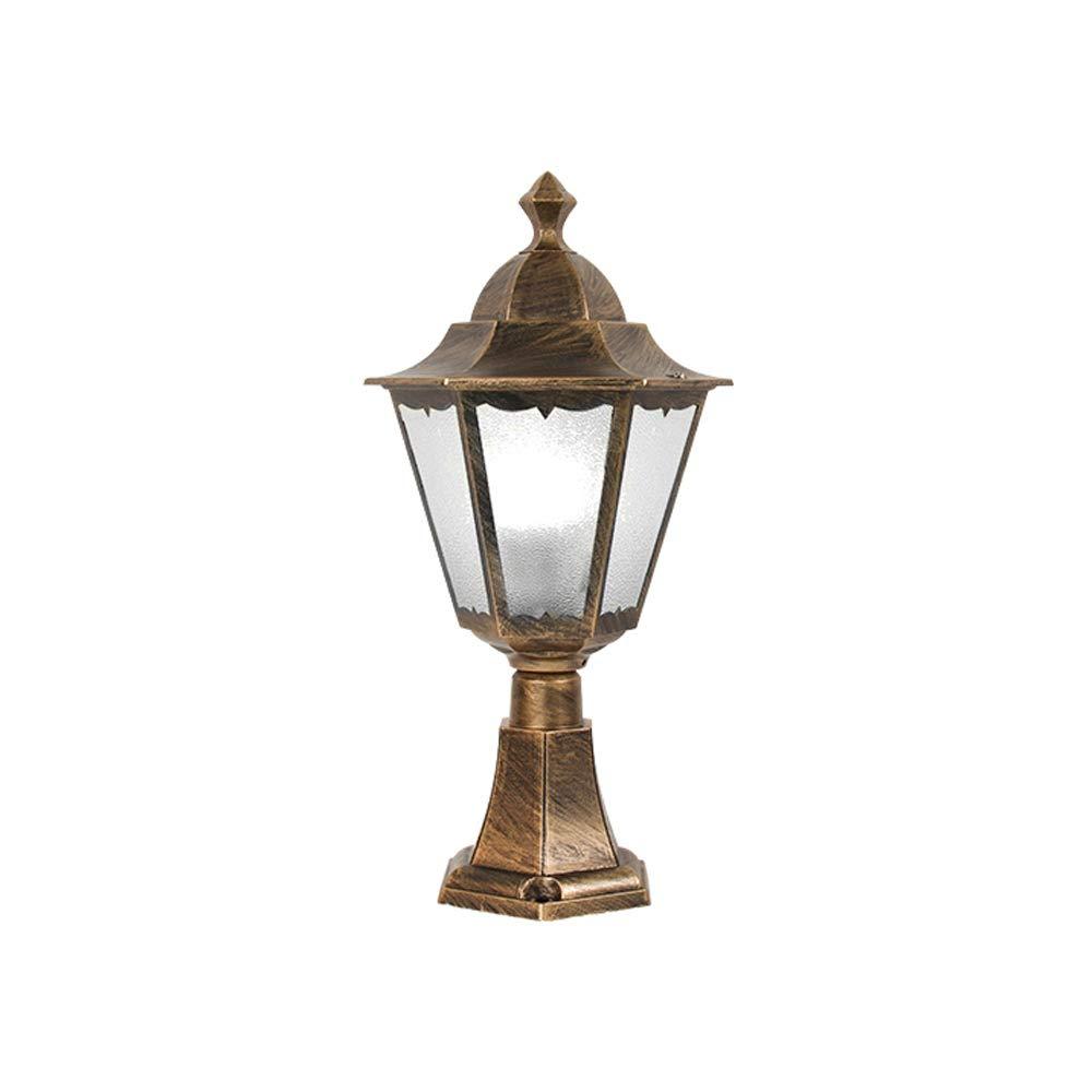 Rishx Rostfreie Patio-S/äulen-Licht-Hohe Helligkeits-E27 Edison-Glas-Pfosten-Lampen-im Freien Wasserdichte Aluminiums/äulen-Laterne f/ür Landhaus-Garage-Clubhaus-Swimmingpool-stehende Beleuchtung