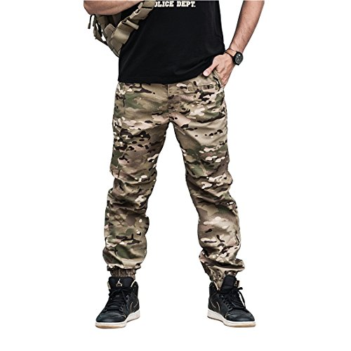 Army Combat Trousers (2017 new camouflage War Game Cargo Casual pants mens silm trousers Combat SWAT Army military Active Pants)