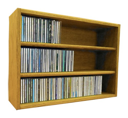 Wood Shed The 303-2 C Solid Oak CD Storage Cabinet, Clear by Wood Shed