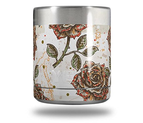 Yeti Rambler Lowball - Flowers Pattern Roses 20 by WraptorSkinz ()