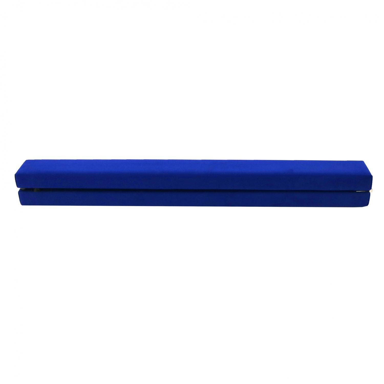 Oypla 7ft 2.1m Pliant Gymnastic Training Poutre Bleu Faux Suede