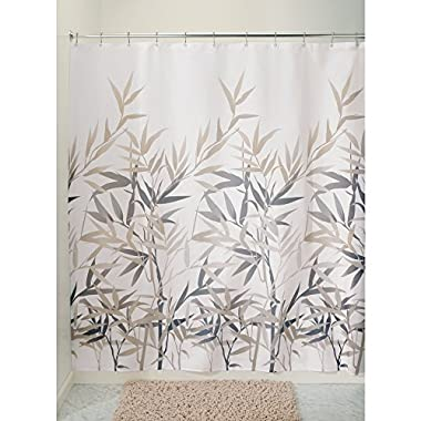 InterDesign Anzu Fabric Shower Curtain - 72  x 72 , Black/Tan