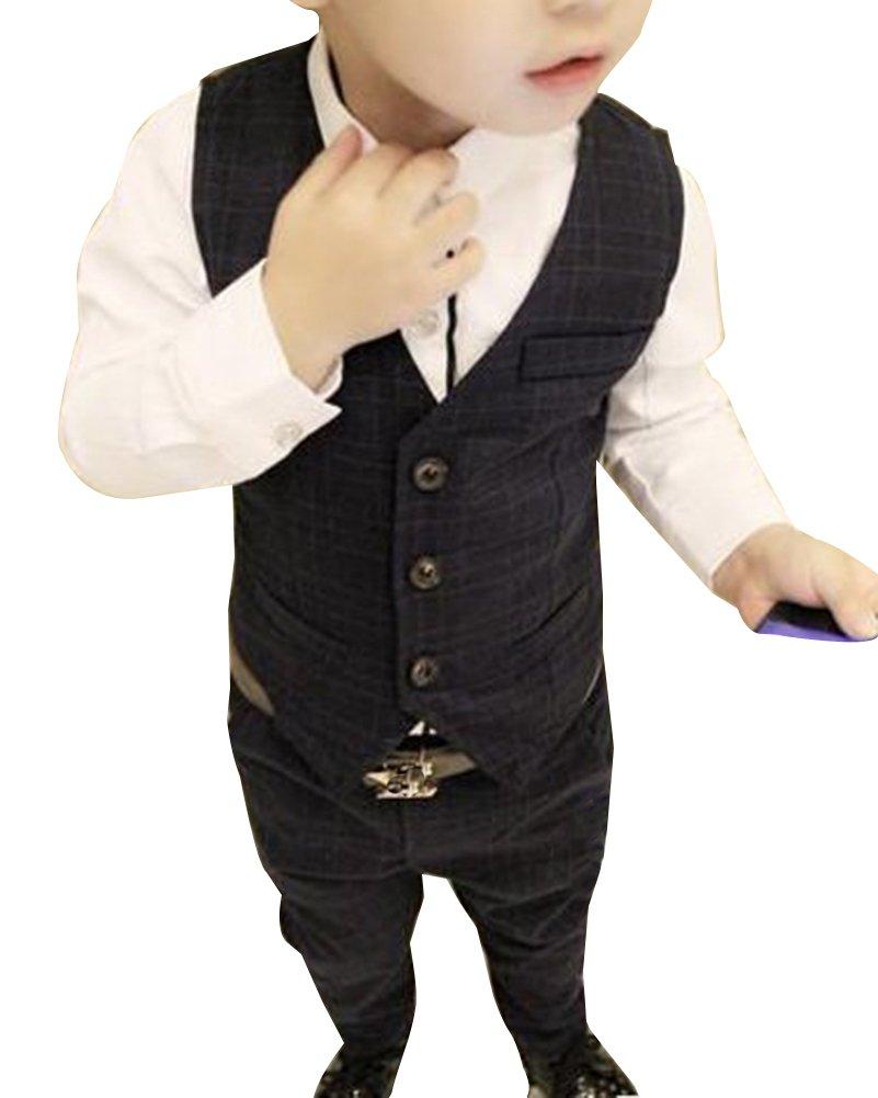 Bambino Ragazzo 2 Pezzi Abito Cerimonia Formale Gilet+ Pantaloni Lunghi LaoZanA