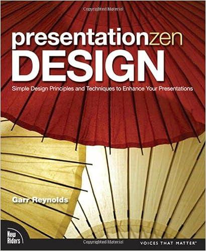 Presentation Zen Design: Simple Design Principles And Techniques