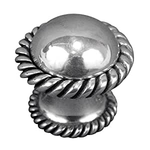 Vicenza Designs K1038 Equestre Knob, Large, Antique Silver