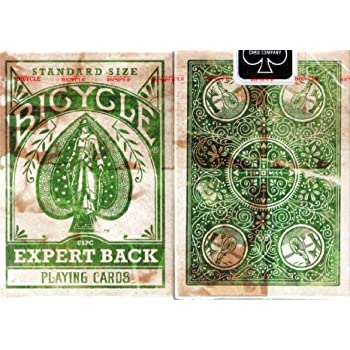USPCC Bicycle Distressed Expert Back Green Playing Cards