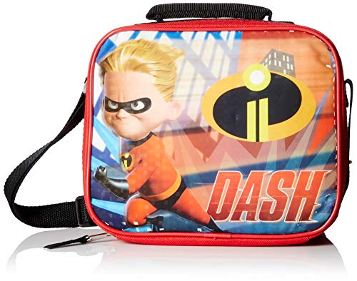 Incredibles 2 Dash Rectangle Lunch Bag with Strap ()