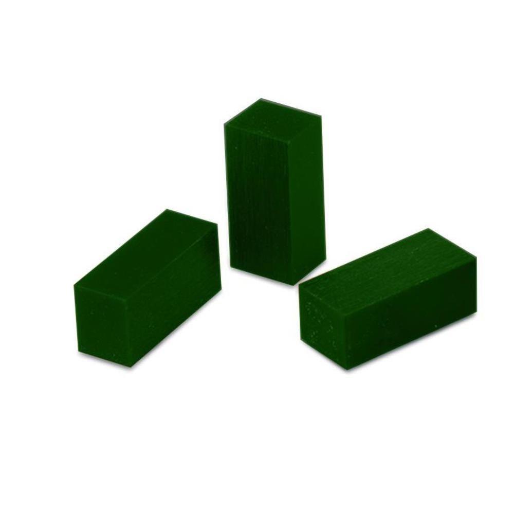 3 Green Matt Carving Wax Bars 1/6 lb FindingKing