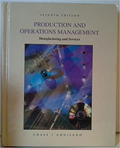 Production and operations management manufacturing and services production and operations management manufacturing and services richard b chase nicholas j aquilano 9780256140231 amazon books fandeluxe Image collections