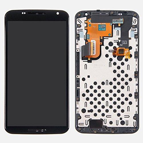 LCD display Digitizer touch screen Assembly For Motorola Google Nexus 6 XT1100 XT1103 (Black w/ Frame)
