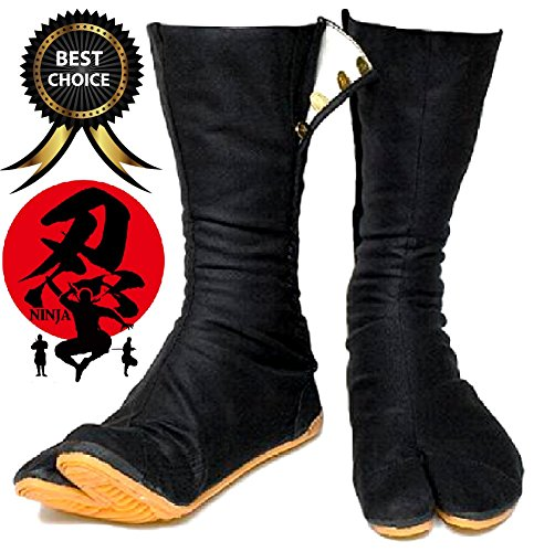[SPJ: Japanese Ninja Shoes Costume JIKATABI High Top Tabi Working Boots Black (26.5cm JP / 8.5 US] (Man Construction Worker Costume)
