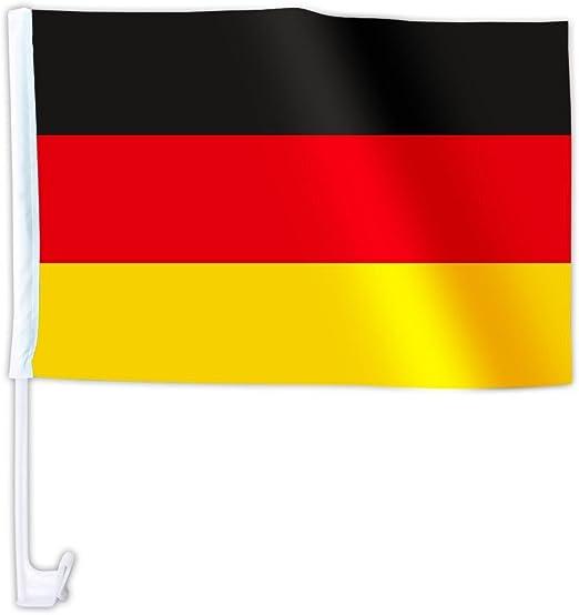 Alsino 50 Stück Länder Auto Fahne Deutschland Autoflagge Autofahne Auto Fenster Flagge Garten