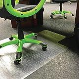 Heavy Duty Clear Vinyl Office Computer Chair Carpet/Hard Floor Protector Mat Non Slip 90 x 120cm