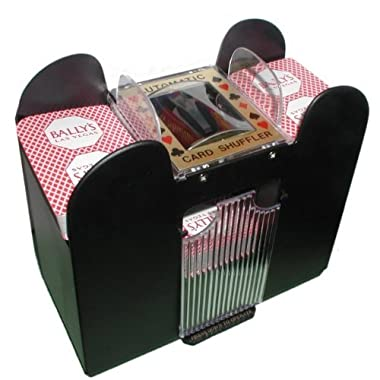 Playing Card Shuffler, Automatic Battery Operated 6 Deck Casino Dealer Travel Machine Dispenser by Trademark Poker