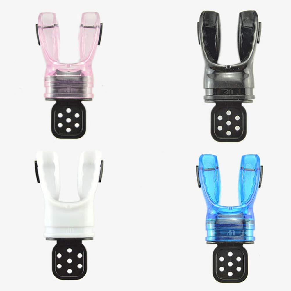 GEZICHTA Moldable Mouthpiece,Scuba Diving Mouthpiece with Tie Wrap ,Comfort Silicone Scuba Diving Snorkelling Moldable Bite Mouthpiece Regulator Accessories Blue