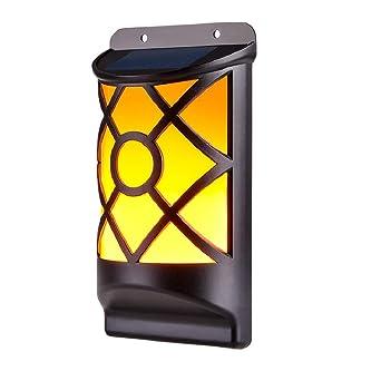 Lumière Ip65 Applique Nuit Solaire Murale Interrupteur Solaire66 Capteur Automatique Led Lampe Étanche Pcs Wzto Flammes TJ5uKcF1l3